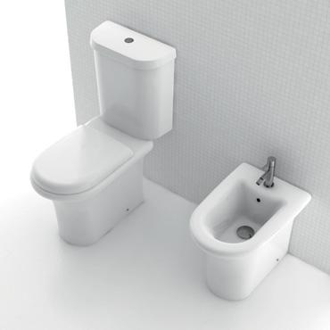 H20 Small 40x72 monoblock wc and bidet